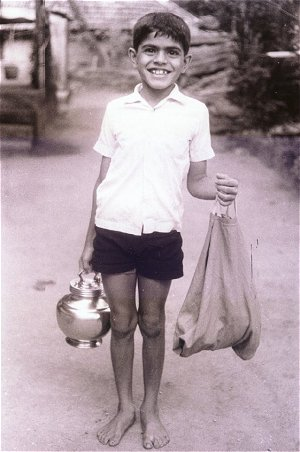Vikas carrying water (1976)