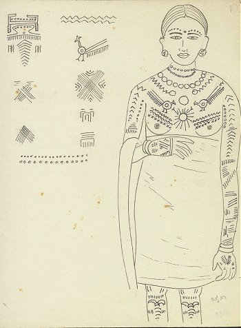 Tattoos of a Tribal Woman