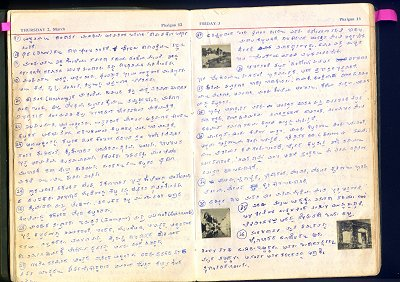 Pages from Kamats Diary