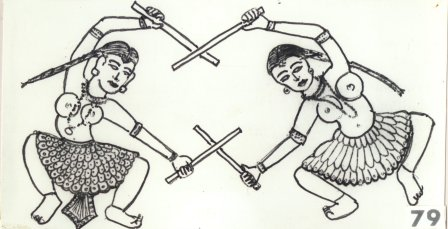 Girls Engaged in Stick Aerobics