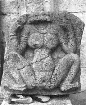 A Stone Sculpture of Lajja Gowri