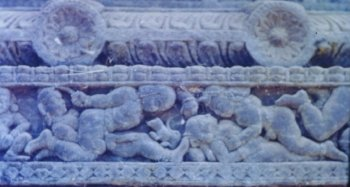 Erotic Engravings on the Partkal Temple Chariot, Goa
