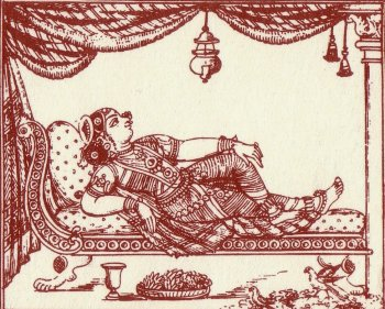 Reclining Woman on a Luxurious Sofa