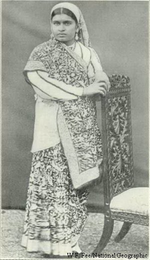 Parsi Lady in Traditional Dress