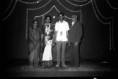 Newly Married Sesha Shastri with in-laws, 1984