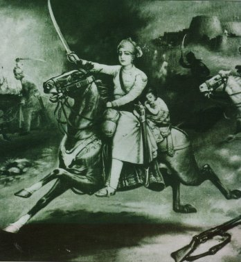 Queen of Jhansi at Battlefield