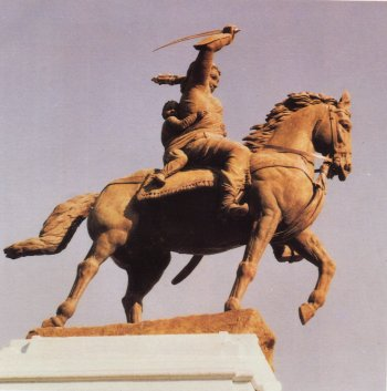Sculpture of Rani Lakshmibai of Jhansi