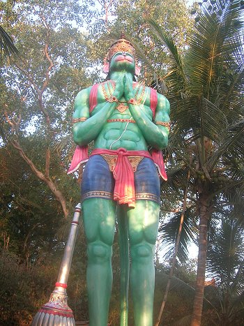 Hanuman on Top of Kadri Hill, Mangalore
