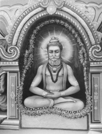 Ascetic Allma Prabhu in Medittaion