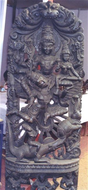 Garuda Carrying Lord Vishnu and Laxmi