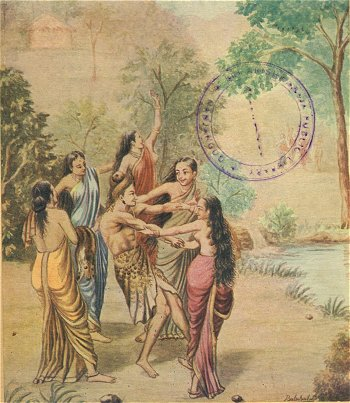 Rishyashringa Lured into Ayodhya by Dancing Girls