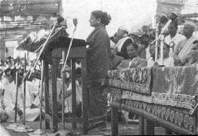 M.S. Subbulakshmi Singing at Hampi