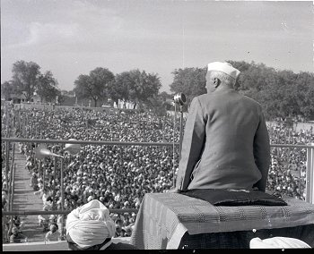 Nehru at a Rally
