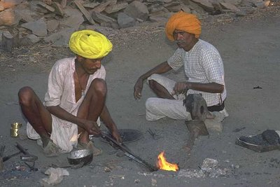 Blacksmiths working, Jaipur