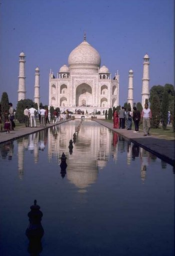 Front View of Taj Mahal, Agra