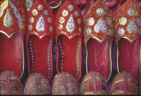 Red Shoes from Rajasthan