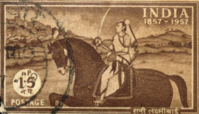 Indian Stamp Honoring Laxmibai of Jhansi