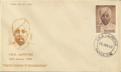 First day Envelope Honoring Lala Lajpatrai