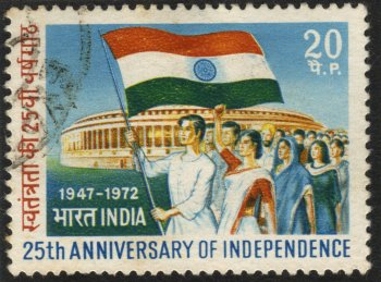 Stamp Marking 25 Years of Indian Independence
