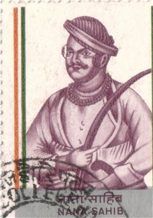 Nana Sahib -- Detail from an Indian Stamp