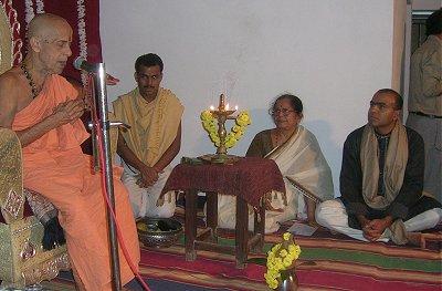 Swamiji of Pejawar Mutha at  Discourse