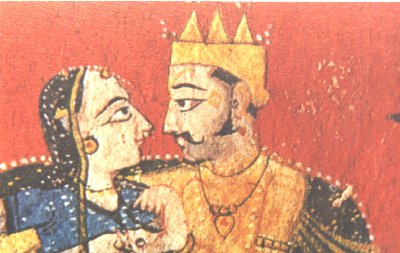 Lovers in Pahari style.