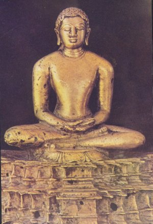 A Statue of Meditating Mahavira