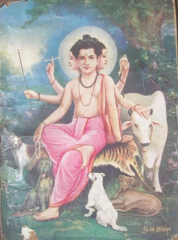 Three Headed Animal Lover Dattatreya