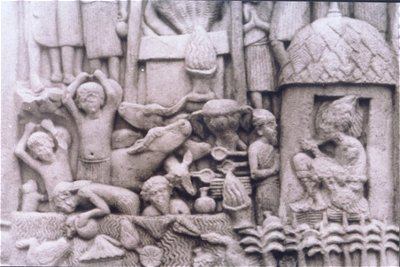 Ancient Life Depicted in Sanchi Sculpture