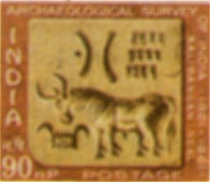 A Seal of Ancient Indian Valley Civilization