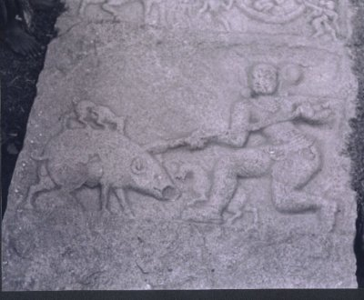 Hero Fighting Wild Boar, Kolar