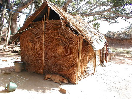 Home Made from Woven Bamboo