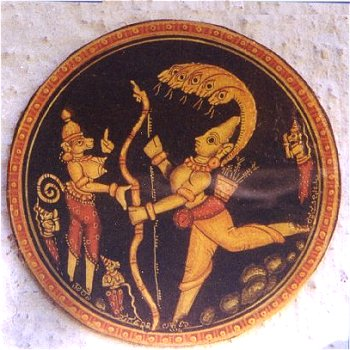 Mythological Painting on Ganjeefa Card