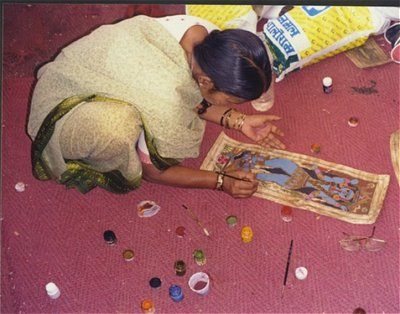 A Madhubani Artist at Work
