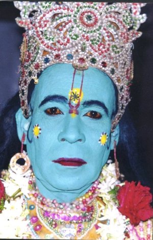 Folk Artist as Lord Kirshna