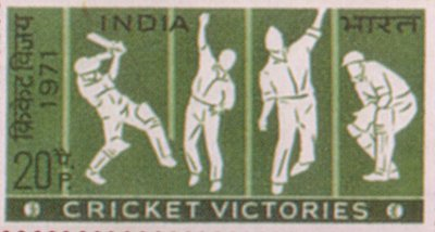 Cricket Stamps of India