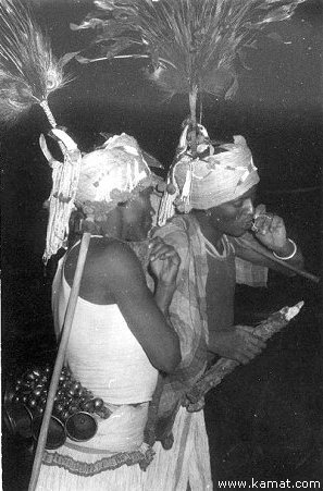 Two tribals go for a smoke (beedi)