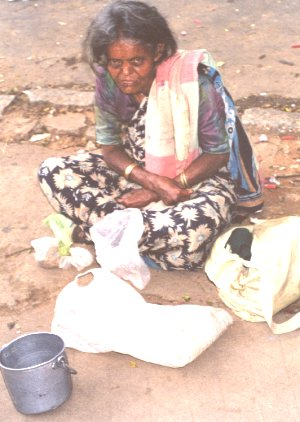 Destitute Woman Begging