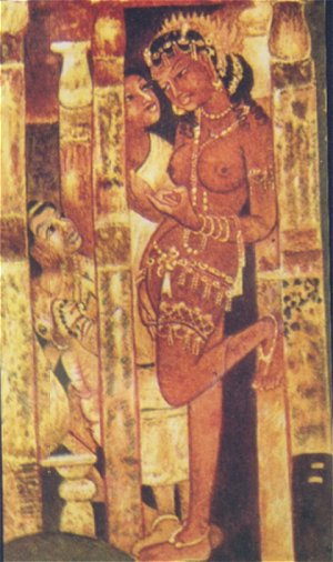 Kamat 39 s potpourri paintings of ajanta for Ajanta mural painting