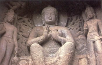 Statue of Buddha from a Cave in Ajanta