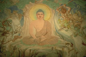 Lord Buddha from a Sarnath temple painting