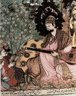 Adil Shah II playing tamboor