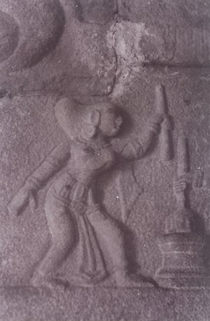 Woman with a Pestle at Mortar