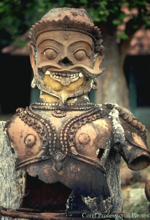 A Temple Guardian in Tamil Nadu