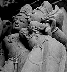 Lovers, sculpture from a Khajuraho temple