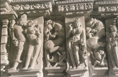 Sculpted Chandela Temples depicting Erotica