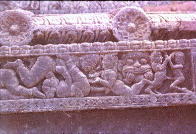 Carvings on Wooden Car in Pattadakal