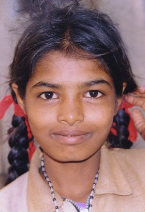 Girl Growing up on the streets of India