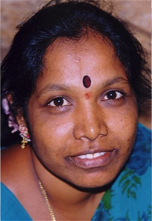 Indian Woman with Vermilion