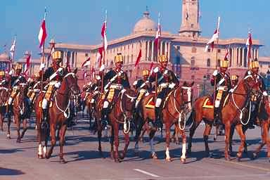 Presidential Guards at the Republic Day Parade, New Delhi